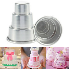 DIY Mini 3-Tier Cupcake Pudding Chocolate Cake Mold Baking Pan Mould Party Metal