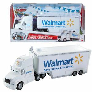 Hauler-Wally-Walmart-Disney-Cars-Spiel-Set-Transporter-Mattel-BLV13