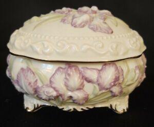 San-Francisco-Music-Box-Co-Phantom-of-the-Opera-Theme-Ceramic-Box-Orchids-1996