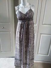 NEW ANN TAYLOR LOFT BLACK/WHITE FLORAL PETITE MAXI DRESS SIZE 0P