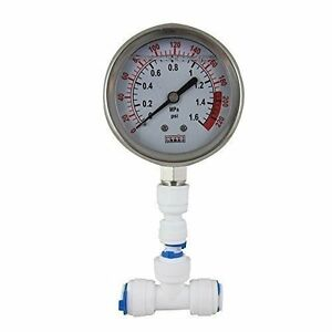 water pressure gauge meter 0 1 6mpa 0 220psi 1 4 f reverse osmosis syst. Black Bedroom Furniture Sets. Home Design Ideas