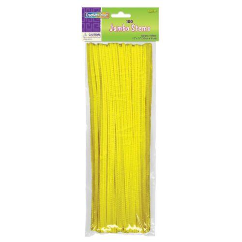 Creativity Street Jumbo Chenille Stem Individual Colors Yellow Yellow