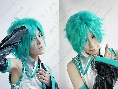 Hatsune future green wig Men mikuo cosplay wig