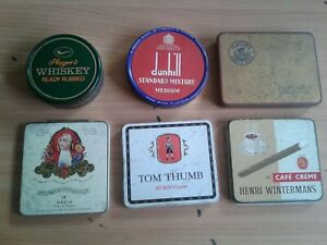 Tobacco, cigarette & Cigar Tins, players, dunhill, wintermans, Tom thumb