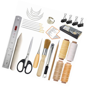 17 pcs Supplies,A Necessity Book Binding Starter Kit Re JOFAMY Bookbinding Kits