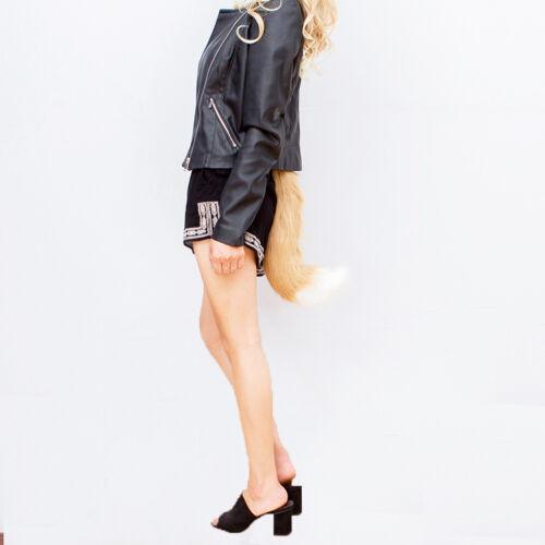 Halloween Faux Fur fox/'s Tail Unisex Cosplay Furry Wolf Dog Adjustable Costume