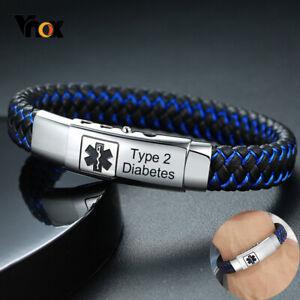 Personalized Bracelet FREE SHIPPING- Mens Leather Bracelet Custom Men Wristband Men/'s Engrave Blue Bracelet, Bracelet For Men