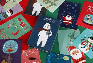 Lot-of-30-Travel-Postcard-Classic-Christmas-Cartoon-Printed-Post-Cards-Posters