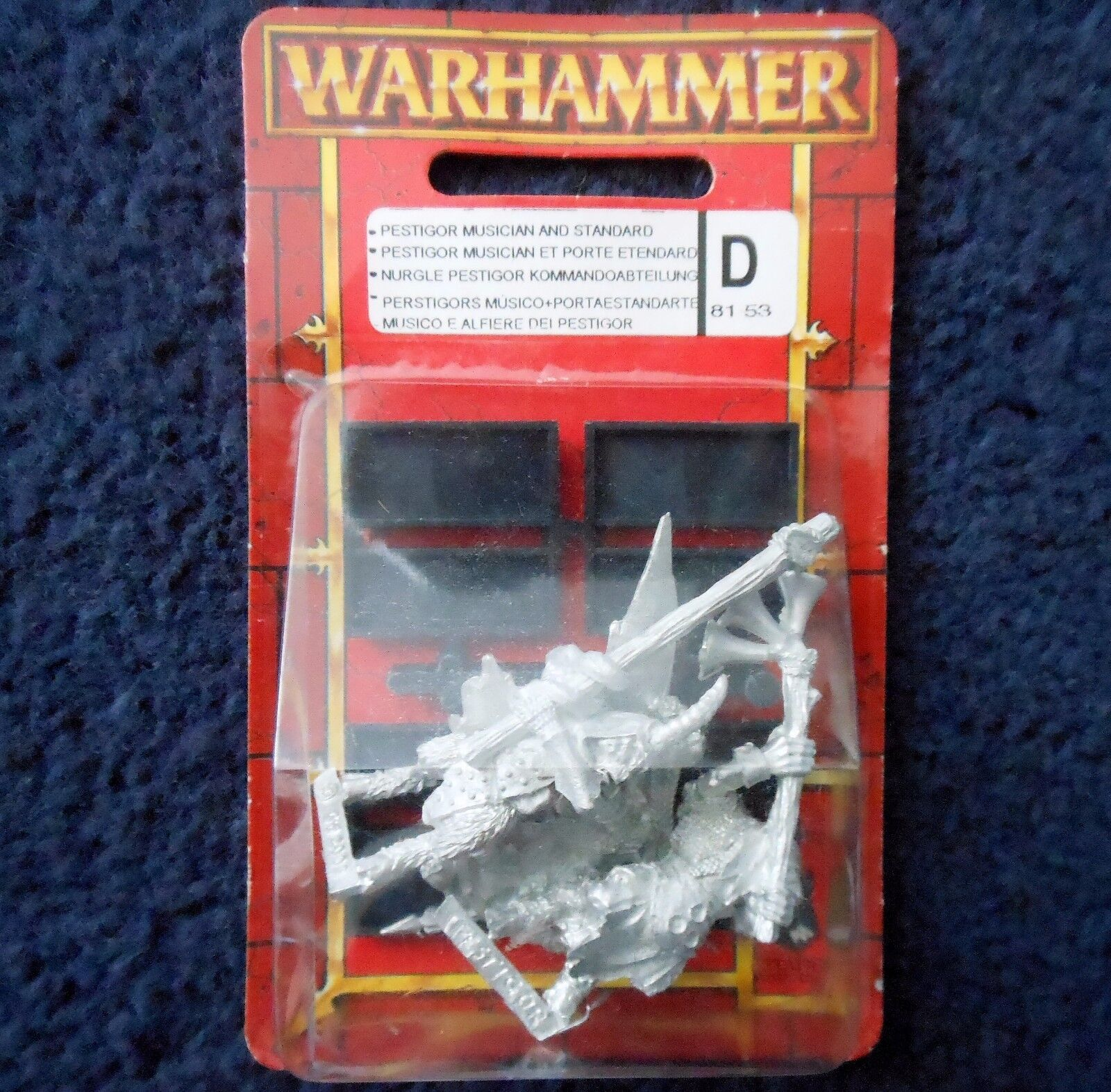 2003 Chaos Beastman Pestigor Command Citadel Warhammer Beastmen Beast Broo MIB