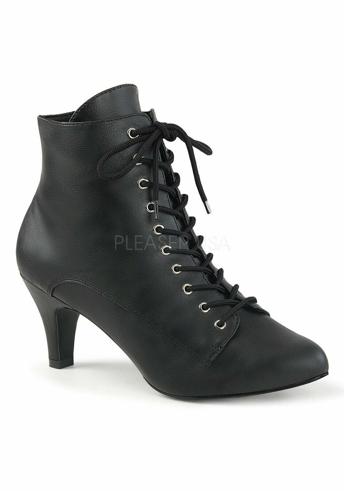 Pleaser DIVINE-1020 3 Inch Heel Ankle Boot