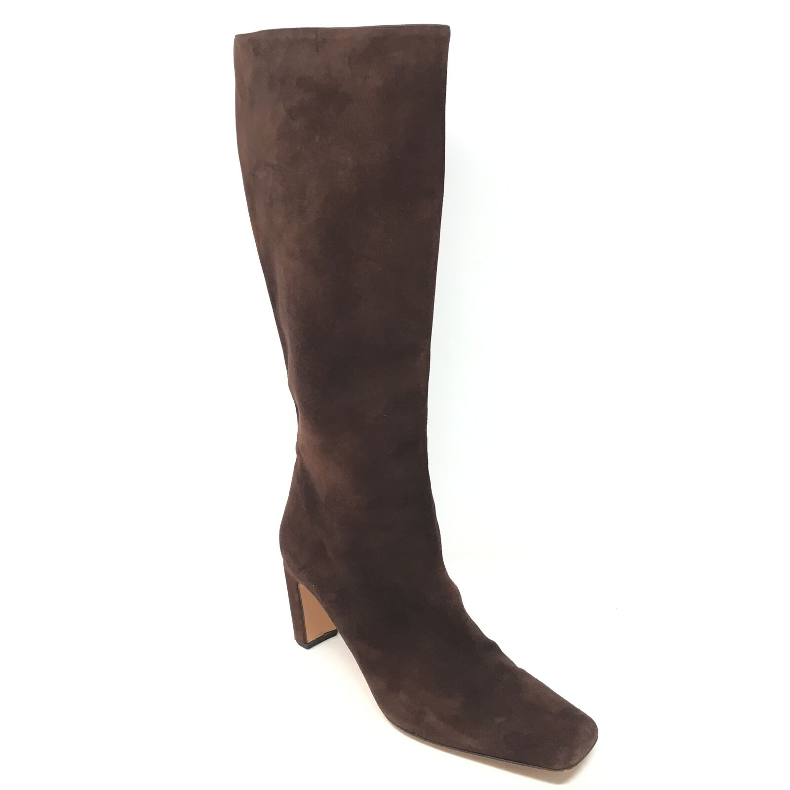 Women's St. John Knee High Boots shoes Size 8B Brown Suede Side Zip Made  Q2