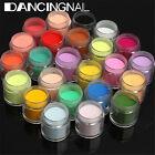 24 Colors 3D Jumbo Fine Shiny Glitter Nail Art Kit Acrylic UV Powder Dust Tip