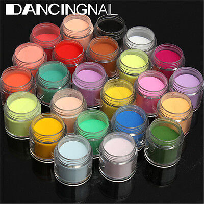 24 Colors 3D Jumbo Fine Shiny Glitter Nail Art Kit Acrylic UV Powder Dust Tip