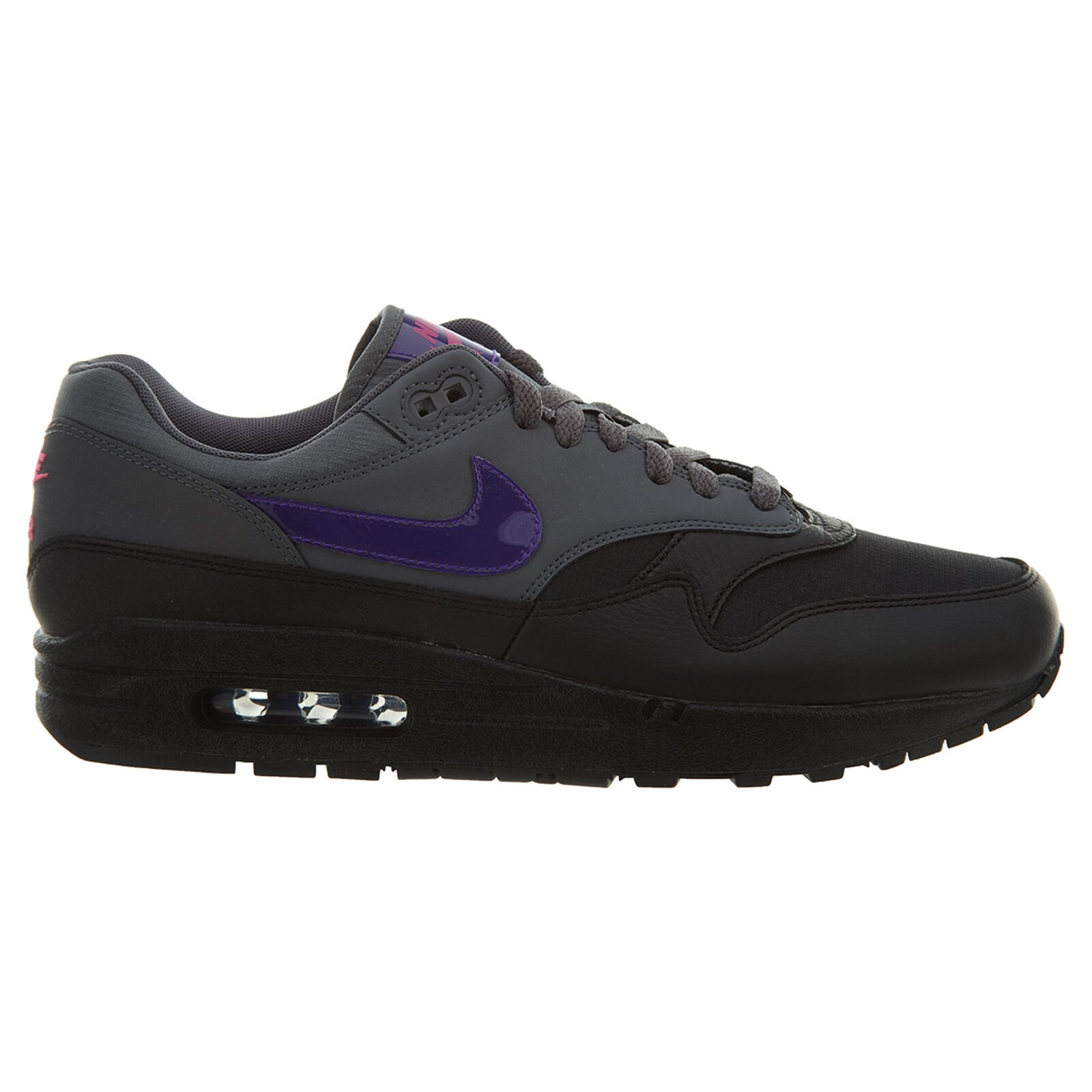 Nike Air Max 1 Mens AR1249-002 Running Dark Grey Fierce Purple Running AR1249-002 Shoes Size 9.5 1e3089