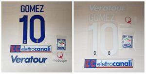 Nombre Joma 10 Parche Nome Papu Atalanta Sponsor Gomez Set Número El q7xXqr