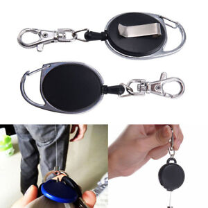 Badge Reel - Heavy Duty Retractable Recoil Ski Pass ID Card Holder Key Chain New 6111111111777
