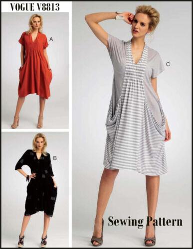 V8813 Sewing Pattern Vogue 8813 Marcy Tilton Designer Loose Fitting Dress EASY