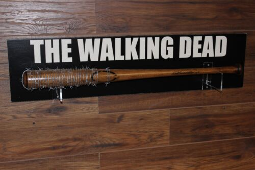 THE WALKING DEAD Negan Lucille Bat Prop//Replica Wall Plaque Included REMOVEABLE