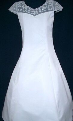 Girls First Holy Communion Confirmation White - Ivory Girl Dresses Size 8 to 12