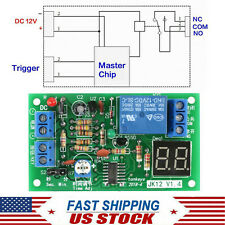 Dc 12v Timer Relay Module Led Display Countdown Time Delay Timing Board Switch