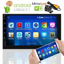 "7""Android 5.1 Quad Core 2Din Car Radio Navi GPS BT 4G Wifi TouchScreen+ Rear Cam"