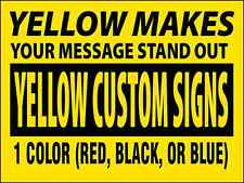 """25 Business / Political Custom Yard Signs - 24""""x18"""", 2 Sided with 24"""" Stakes"""