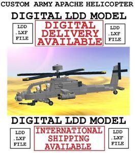 custom LEGO military army Apache AH-64 Longbow helicopter aircraft MOC model LDD