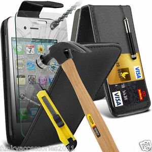 Top-Flip-Quality-Leather-Phone-Case-Cover-Glass-Screen-Protector-for-Apple