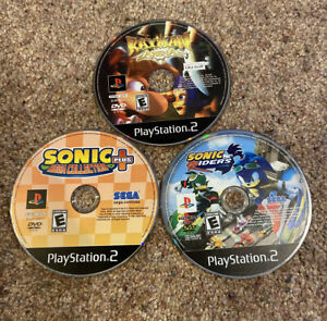 PS2-Lot-Sonic-Riders-Sonic-Mega-Collection-Plus-Rayman-Arena-Discs-Only