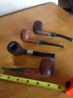 4 VINTAGE ESTATE SMOKING PIPEs Star fire Master Craft Bradbury France Italy K