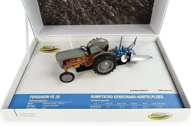 UNIVERSAL HOBBIES - UH5363 FERGUSON FE35 + RUMPTSTAD 2 FURROW PLOUGH 1 32 SCALE