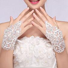 Jolis Gants pour mariée court strass Accessoires de mariage/ wedding gloves