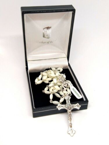 Beautiful Mother of Pearl Rosary Made in Italy