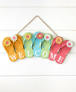 Front-Door-Fun-In-The-Sun-Flip-Flop-Welcome-Sign-Wall-Porch-Patio-Deck-Decor