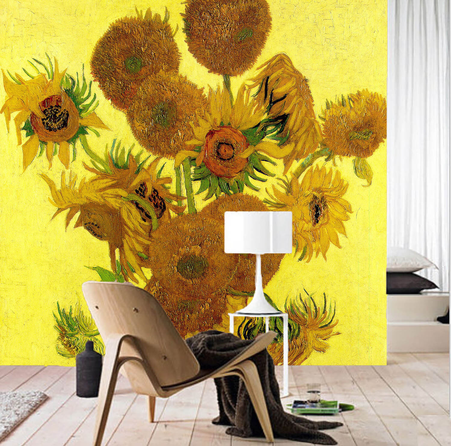 3D Gelb Sunflowers 42 Wall Paper Wall Print Decal Wall Deco Indoor Mural Carly