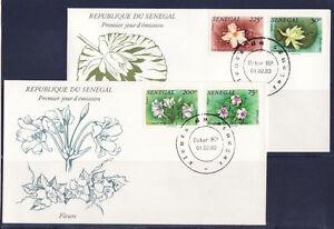 SENEGAL-1er-jour-flore-fleurs-1982