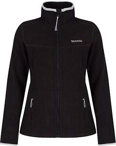 Regatta-Floreo-Womens-Fleece-Jacket-Black-Stylish-Zip-Through-Outdoor-Adventure