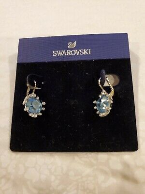 Blue Earring Aqua Blue Crystal Earrings,