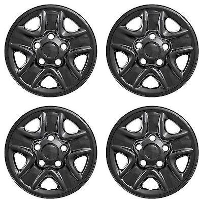 Brighter Design Set of 4 Gloss Black 5 Spoke 18 Wheel Skins for 2007-2018 Toyota Tundra