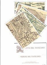 Vaticano 1982 4 cartoline postali timbrate in folder miniature