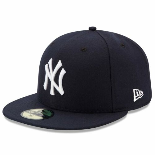 NEW YORK YANKEES Game New Era 5950 Navy MLB Cap Fitted NY On Field Hat