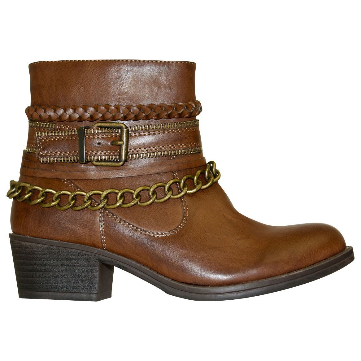 Women's GC Shoes Ranger Bootie Brown Size 10 #NJCG5-431