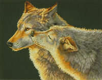 Cross Stitch Kit Dimensions Wolf Kiss Nuzzling Wolves 70-35283