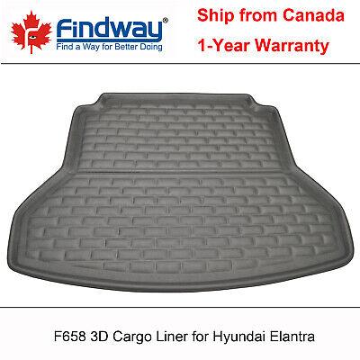 Cqlights Elantra Cargo Liner for 2017-2020 Hyundai Elantra Sedan Trunk Liner Tray Heavy Duty Rubber Rear Cargo Area Mat Waterproof Protector Floor Mat Black