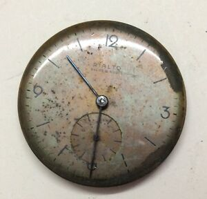 VINTAGE RIALTO, Ancre 15 Rubis WRIST WATCH MOVEMENT 15J For Parts/Repairs. O#13