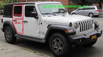 2007-2018 Jeep Wrangle JK Driver Front Door Weatherstrip Gasket Seal Left Side