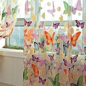 Romantic-Butterfly-Transparent-Curtains-Tulle-1x2m-for-Casement-And-Door-MY