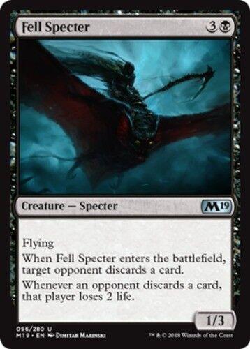 4x Fell Specter NM-Mint English Core Set 2019 MTG Magic