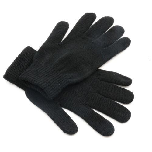 Unisexe Noir Hiver Gants Chaud Thermique écran Tactile Coupe-vent anti-dérapant Noël UK