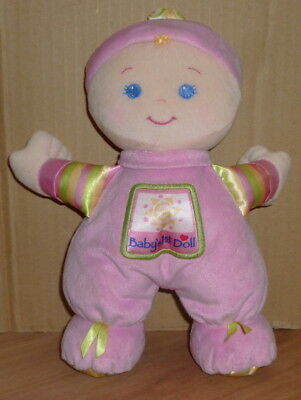 Fisher Price /'Baby/'s 1st First Doll/' Pink Soft Toy Comforter Rattle